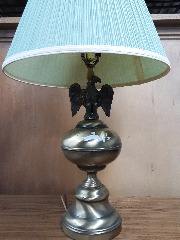 Brass Lamp W\/Eagle In-Lay