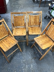 Folding Wooden Chair Set